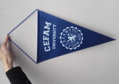pennant without cord and wooden balls